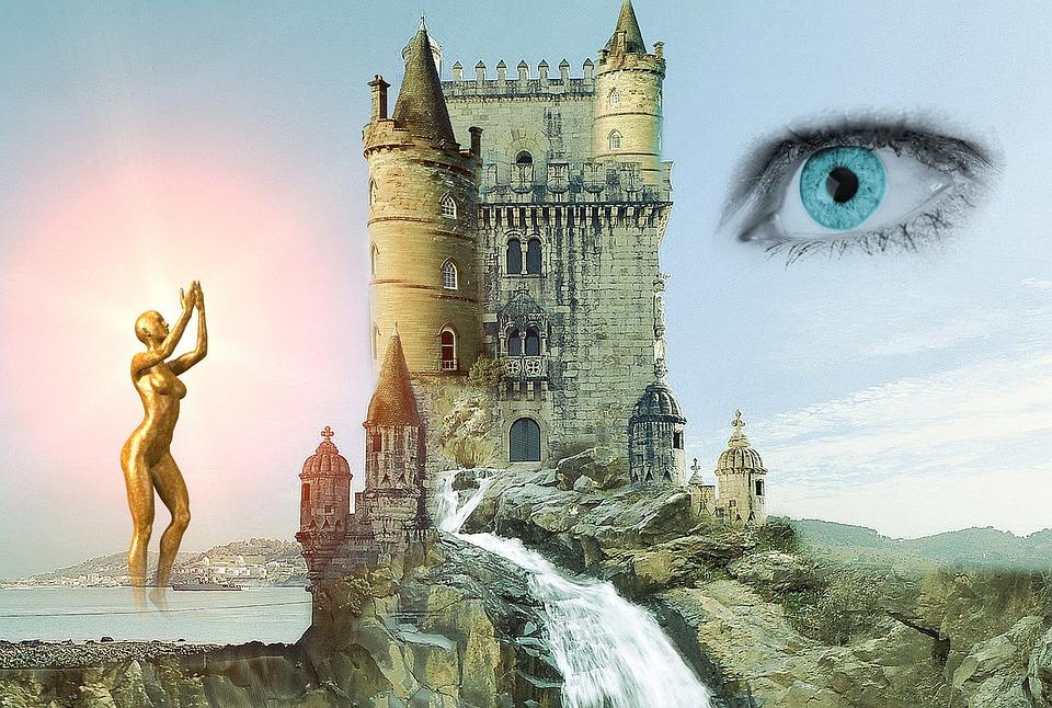 castelo olho e mulher
