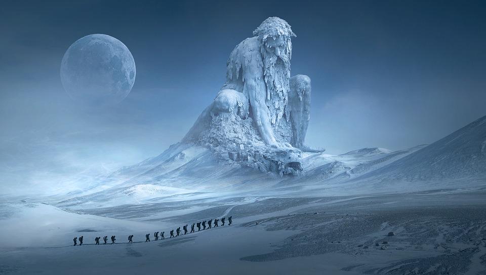 montanha humana